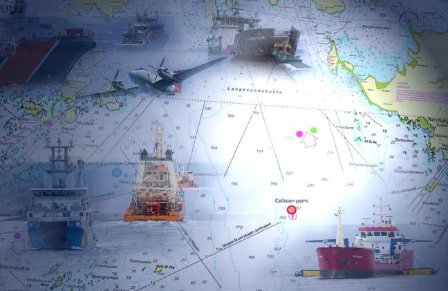 Illustrasjonsbilde fartøy kart lyssatt